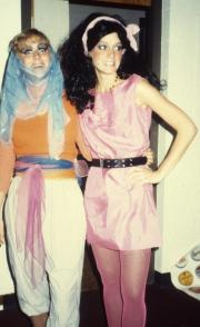 Students wear colorful costumes, c.1985