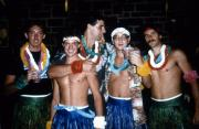 Five students at a luau, c.1985