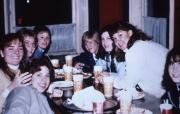 Students share a meal, c.1986