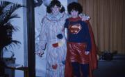 Two students show off costumes, c.1986