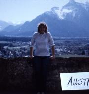 Abroad students poses in Austria, c.1986