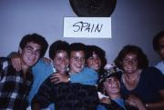 Abroad students smile together in Spain, c.1986