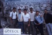 Abroad students pose in Greece, c.1986