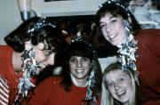 Students show Christmas spirit, c.1986