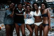 Beach-goers take a photo, c.1986