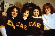 Students pose in Sigma Alpha Epsilon letters, c.1986