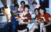 Students with furry friends, c.1987