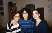 Three students smile, c.1987