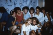Eight students smile, c.1987