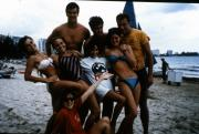 Students at the beach, c.1987