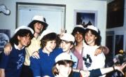 Students show off matching hats, c.1987