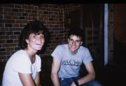 Two students laugh, c.1987