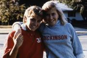 Two students outside, c.1987