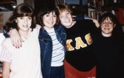 Four friends pose, c.1987