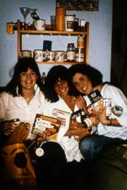 Three students in a dorm, c.1987