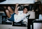 Climbing in a dorm, c.1989