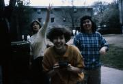 Students outside the dorms, c.1989