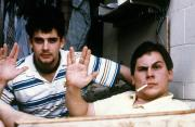 Two guys show the Vulcan salute, c.1990