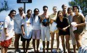 Friends take a dip, c.1990