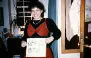 A student and a bra, c.1990