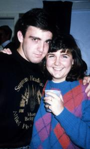 Two students smile, c.1990