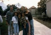 Students outside the Kline Center, c.1990
