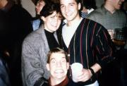 """A student """"ruins"""" friend's picture, c.1990"""