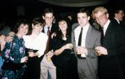 Friends pose in formal attire, c.1990
