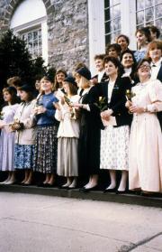 Blue Hats tap new members, 1989