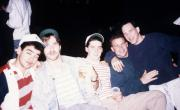 Five guys pose for the camera, c.1990