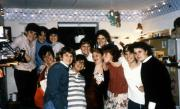 A large group of friends pose together, c.1990