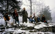 Students brave the snow, c.1990