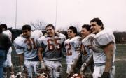 Football players after ECAC South Bowl win, 1988