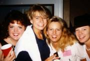 Four friends smile for the camera, c.1991