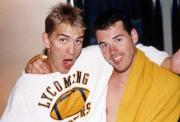 Two students make funny faces, c.1991