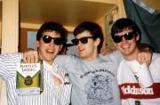 Three students wear sunglasses inside, c.1991