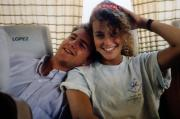 Two friends smile, c.1991