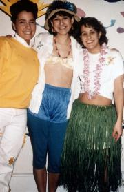 Students ready for a luau, c.1991