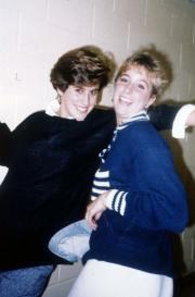 Two ladies smile, c.1991