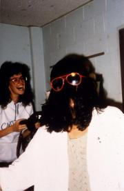 Two students in their dorm, c.1991