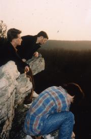 Three Students at Hawk Watch, c.1992