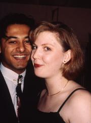 Couple at a formal event, c.1994
