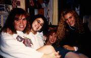 Four students in a dorm room, c.1994