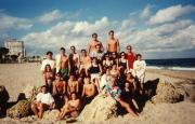 Students at the beach, c.1995