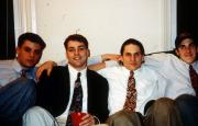 Four boys take a picture, c.1995