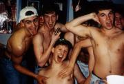 Boys take a silly picture, c.1995