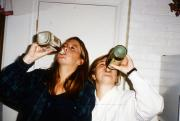 Two girls at a party, c.1995