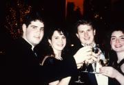 Two couples make a toast, c.1995