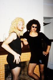 Boys dressed as women, c.1995