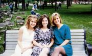 Students sit in the Academic quad, c.1995